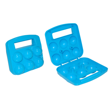 PLASTIC TRANSPORT BASKET FOR 6 EGGS